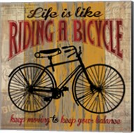 Life is Like Riding a Bicycle Fine-Art Print