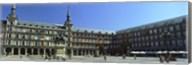 Tourists at a palace, Plaza Mayor, Madrid, Spain Fine-Art Print