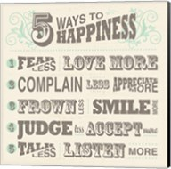 Five Ways to Happiness Fine-Art Print