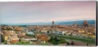 Buildings in a city, Ponte Vecchio, Arno River, Duomo Santa Maria Del Fiore, Florence, Italy Fine-Art Print