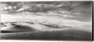 Sahara Desert landscape, Morocco (black and white) Fine-Art Print
