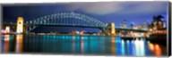 Sydney Harbour Bridge with the Sydney Opera House in the background, Sydney Harbor, Sydney, New South Wales, Australia Fine-Art Print