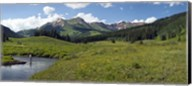 Man fly-fishing in Slate River, Crested Butte, Gunnison County, Colorado, USA Fine-Art Print