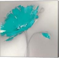 Aqua Platinum Petals I Fine-Art Print