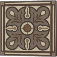 Piazza Tile in Brown III Fine-Art Print