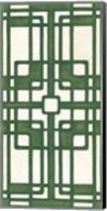 Non-Embellished Emerald Deco Panel I Fine-Art Print