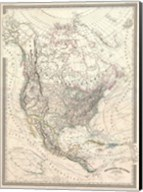1857 Dufour Map of North America Fine-Art Print