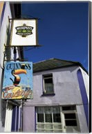 Pub Signs, Eyeries Village, Beara Peninsula, County Cork, Ireland Fine-Art Print