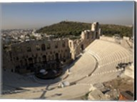 High angle view of an amphitheater, Odeon of Herodes Atticus, Acropolis, Athens, Attica, Greece Fine-Art Print