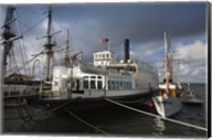 Maritime museum with Ferry Berkeley, San Diego Bay, San Diego, California, USA Fine-Art Print