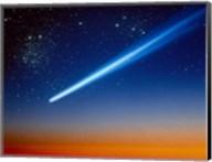 Space, Comet speeding across the night sky Fine-Art Print