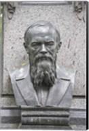 Grave of Fyodor Dostoevsky at Tikhinskoye Kladbistse the Tikhvin Cemetery, St. Petersburg, Russia Fine-Art Print