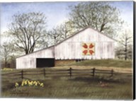 Tulip Quilt Block Barn Fine-Art Print