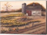 Barn & Sunflowers I Fine-Art Print