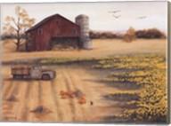 Barn & Sunflowers II Fine-Art Print
