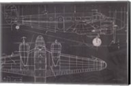 Plane Blueprint I Fine-Art Print