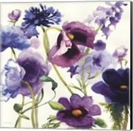 Blue and Purple Mixed Garden I Fine-Art Print
