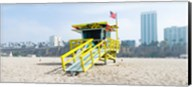 Lifeguard Station on the beach, Santa Monica Beach, Santa Monica, California, USA Fine-Art Print