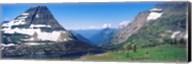 Bearhat Mountain and Hidden Lake, US Glacier National Park, Montana, USA Fine-Art Print