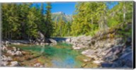 McDonald Creek along Going-to-the-Sun Road at US Glacier National Park, Montana, USA Fine-Art Print