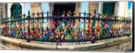 Colorful Bonfim wish ribbons tied around at Church of Nosso Senhor do Bonfim, Pelourinho, Salvador, Bahia, Brazil Fine-Art Print