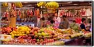 Fruits at market stalls, La Boqueria Market, Ciutat Vella, Barcelona, Catalonia, Spain Fine-Art Print