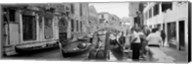 Buildings along a canal, Grand Canal, Rio Di Palazzo, Venice, Italy (black and white) Fine-Art Print