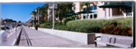Buildings along a walkway, Garrison Channel, Tampa, Florida, USA Fine-Art Print