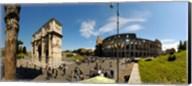 Historic Coliseum and Arch of Constantine, Rome, Lazio, Italy Fine-Art Print