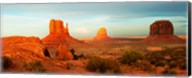 Three Buttes Rock Formations at Monument Valley, Utah-Arizona Border, USA Fine-Art Print