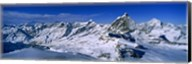 Snow Covered Swiss Alps, Switzerland Fine-Art Print