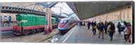 Bullet train at a railroad station, St. Petersburg, Russia Fine-Art Print
