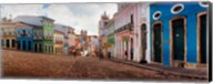 Colorful buildings, Pelourinho, Salvador, Bahia, Brazil Fine-Art Print