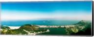 Aerial view of a coast, Corcovado, Rio de Janeiro, Brazil Fine-Art Print