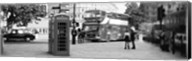 Phone Box, Trafalgar Square, England (black and white) Fine-Art Print