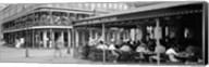 Black and white view of Cafe du Monde French Quarter New Orleans LA Fine-Art Print