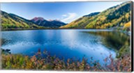 Crystal Lake surrounded by mountains, Ironton Park, Million Dollar Highway, Red Mountain, San Juan Mountains, Colorado, USA Fine-Art Print