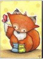 Little Fox in Socks Fine-Art Print