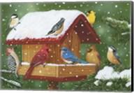 Backyard Birds, Holiday Treats Fine-Art Print