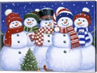 Five Snowmen Fine-Art Print