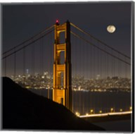Golden Gate and Moon Fine-Art Print