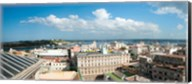 Buildings in a city at the waterfront viewed from a government building, Obispo House, Mercaderes, Old Havana, Havana, Cuba Fine-Art Print