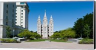 Facade of a church, Mormon Temple, Temple Square, Salt Lake City, Utah Fine-Art Print