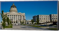 Facade of a Government Building, Utah State Capitol Building, Salt Lake City, Utah Fine-Art Print
