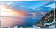 Sunset in Positano, Amalfi Coast, Italy Fine-Art Print