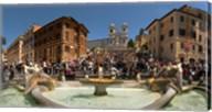 Fontana Della Barcaccia at Piazza Di Spagna, Rome, Lazio, Italy Fine-Art Print