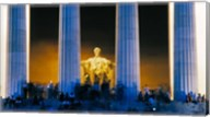 Tourists at Lincoln Memorial, Washington DC, USA Fine-Art Print