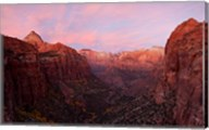 Zion Canyon at sunset, Zion National Park, Springdale, Utah, USA Fine-Art Print