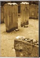 Gravestone at Old Jewish Cemetery, Frankfurt, Hesse, Germany Fine-Art Print