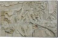 Revolutionary frieze in Huangpu Park by Huangpu River, The Bund, Shanghai, China Fine-Art Print